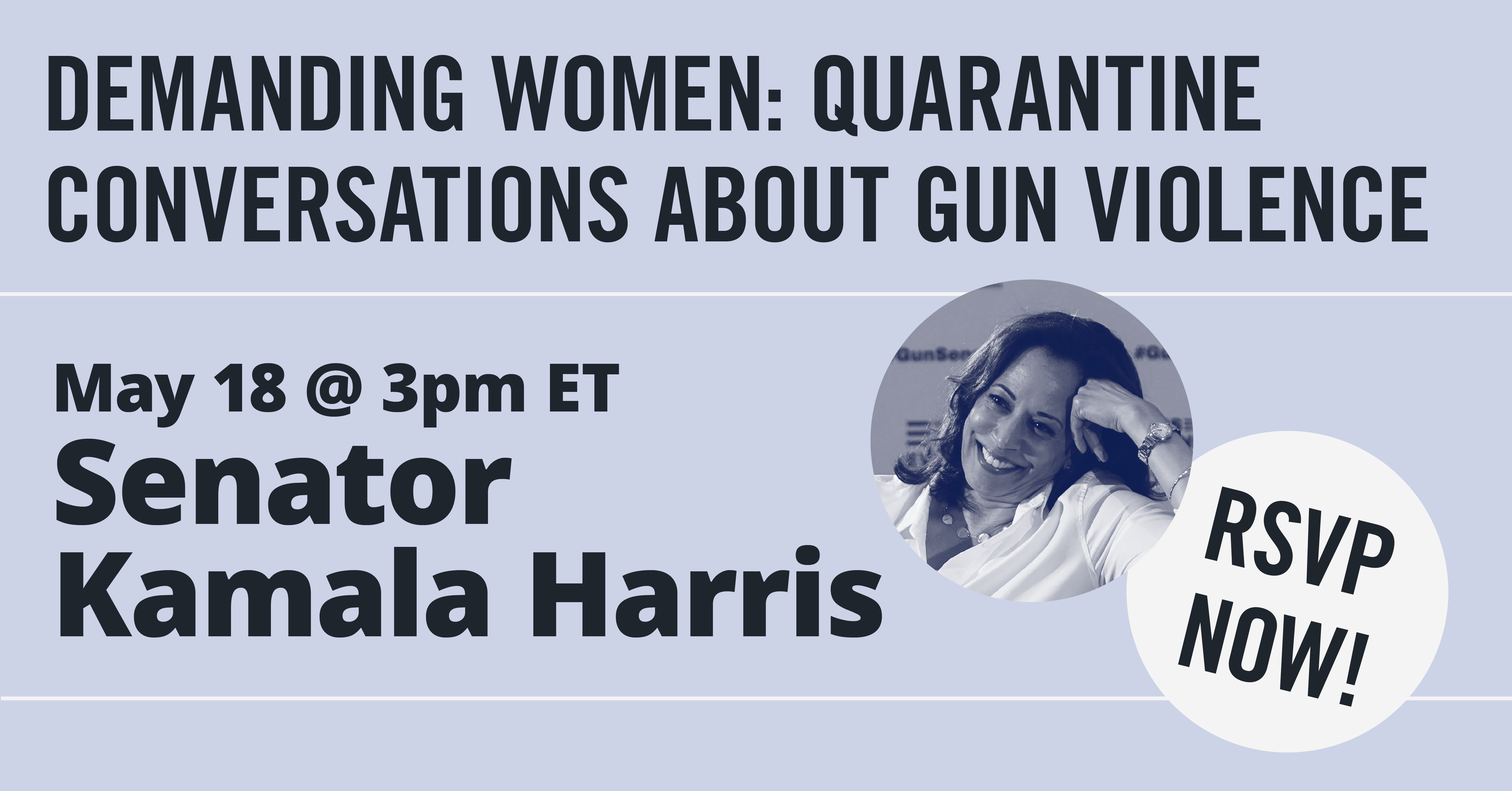 RSVP now for a conversation with Senator Kamala Harris